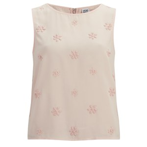 Vero Moda Women's Pleasure Diamond Detail Top - Peach Whip