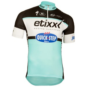 Etixx Quick-Step Replica Kids' Short Sleeve Jersey - Black/Blue