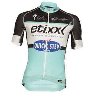 Etixx Quick-Step Replica Pro Race Short Sleeve Jersey - Black/Blue