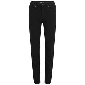 Levi's Women's Demi Curve Slim Pitch Black Mid Rise Jeans - Black