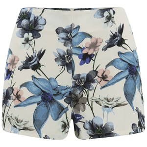 ONLY Women's Lara Floral High Waisted Shorts - Cloud Dancer
