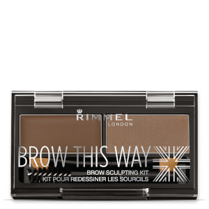 Kit de Sobrancelhas Brow This Way da Rimmel - Medium Brown