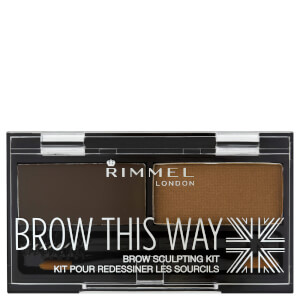 Rimmel Brow This Way Eyebrow Kit - Dark Brown