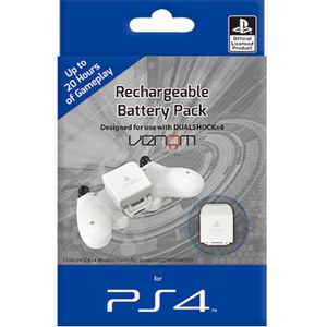 Pack Batería Recargable PS4 - Blanco