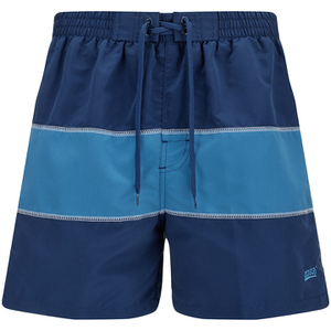 Zoggs Men's Water Check Woodgate 17 Inch Swim Shorts - Petrol Blue