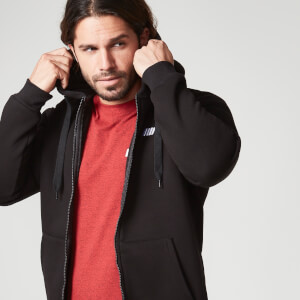 Myprotein Men's Zip Up Hoodie – Black