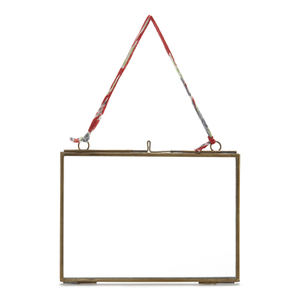 Nkuku Kiko Antique Brass Glass Frame - Landscape 7 x 5""