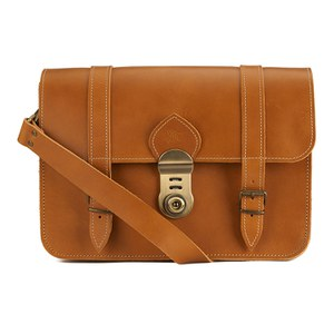 Grafea Women's LA Leather Satchel - Tan