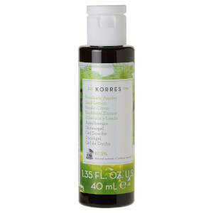 KORRES Natural Basil Lemon -suihkugeeli, matkakoko 40ml