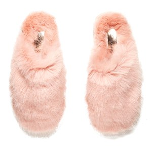 Ted Baker Women's Breae Fluffy Slippers - Light Pink Fux Fur: Image 2