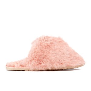 Ted Baker Women's Breae Fluffy Slippers - Light Pink Fux Fur: Image 1