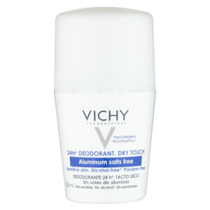 Desodorizante Roll-on 24 horas sem sais de alumínio da Vichy 50 ml