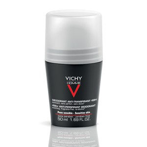 Vichy Homme Men's Deodorant for Sensitive Skin Roll-On 50ml