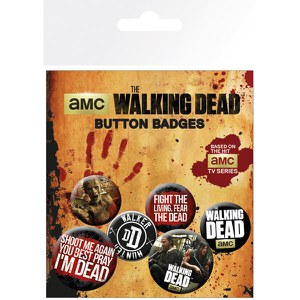 Walking Dead Phrases - Badge Pack