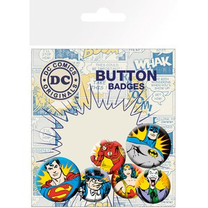 Lot de Badges - DC Comics Héros et Méchants