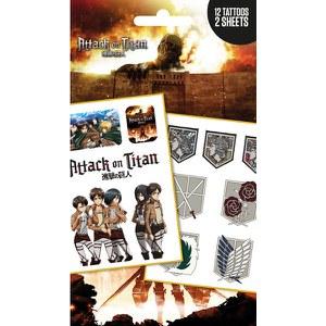 Planche de Tatouages Logos et Personnages - L'Attaque des Titans