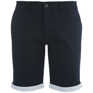 Lyle & Scott Mens Fabric Mix Chino Shorts - New Navy