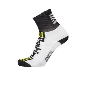 Santini Tau Carbon M Profile Socks - White/Yellow