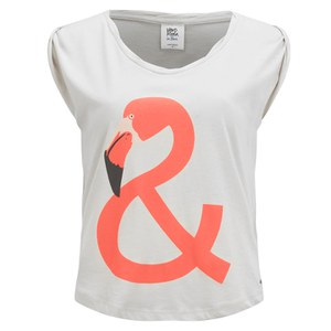 Vero Moda Women's Mino Flamingo T-Shirt - Snow White
