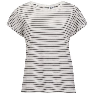 Vero Moda Women's Stripe T-Shirt - Pewter Stripe