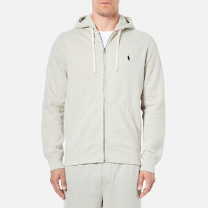 Polo Ralph Lauren Men's Zip Through Hooded Athletic Fleece - Spt Heather