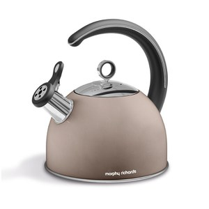 Morphy Richards 974751 Accents Whistling Kettle - Barley - 2.5L