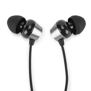 Radiopaq Dual Alloy E9 Earphones with Carry Case, In-Line Remote and Mic - Silver