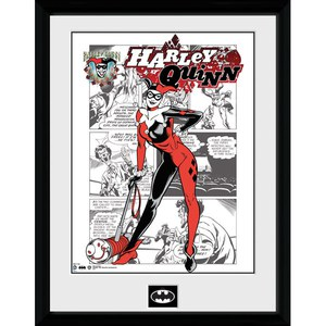 DC Comics Batman Comic Harley Quinn Comic - Framed Photographic - 16 Inch x 12 Inch