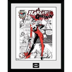 DC Comics Batman Comic Harley Quinn Comic - Framed Photographic - 16 Inch x 12 Inch