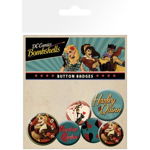 Lot de Badges - DC Comics Harley Quinn Bombshell