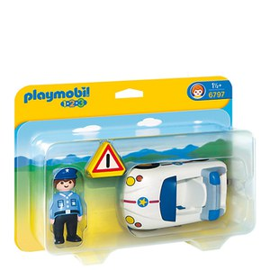 Playmobil 1.2.3 Police Car (6797)