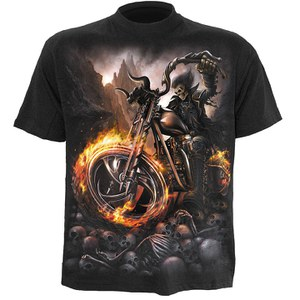Spiral Men's WHEELS OF FIRE T-Shirt - Black