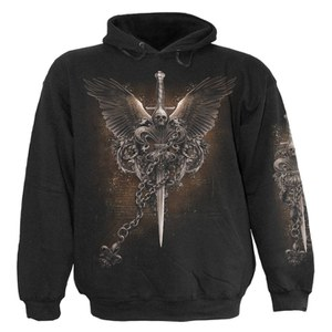 Spiral Men's WINGS OF FREEDOM Hoody - Black