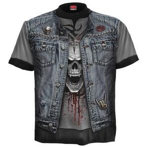 Spiral Men's THRASH METAL Long Sleeve T-Shirt - Black