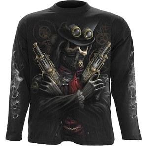 Spiral Men's STEAM PUNK BANDIT Long Sleeve T-Shirt - Black