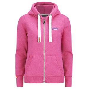 Superdry Women's Orange Label Primary Zip Hoody - Paradise Pink/Grit Grindle