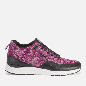 Gourmet Men's 35 TX Trainers - Raspberry/Black Leather