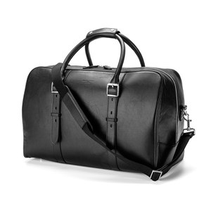 Aspinal of London Men's Shadow Holdall - Black