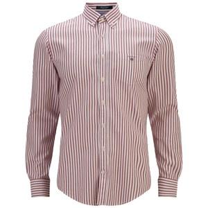 GANT Men's Breton Oxford Shirt - Red