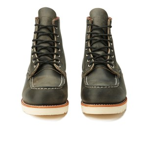 Red Wing Men's 6 Inch Moc Toe Leather Lace Up Boots - Charcoal Rough and Tough: Image 4