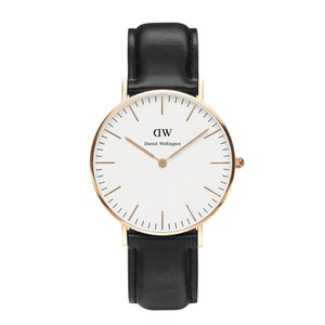 Daniel Wellington Men's Classic Sheffield Rose Watch - Black