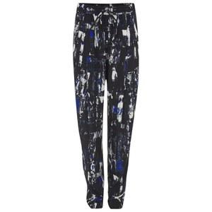 McQ Alexander McQueen Women's Richter Print Loose Trousers - Cobalt Blue