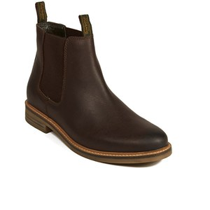 Barbour Men's Farsley Leather Chelsea Boots - Brown: Image 5
