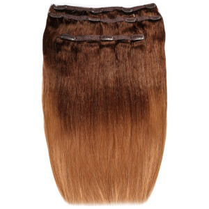 Beauty Works Deluxe Clip-In Hair Extensions 18 Inch - Sunkissed Caramel 6/27T