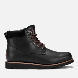 UGG Men's Seton TL Waterproof Leather Lace Up Boots - Black