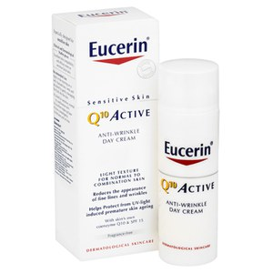 Creme de Dia Anti-rugas Ativo Sensitive Skin Q10 da Eucerin® com FPS 15 (50 ml)