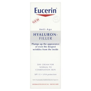Eucerin® Anti-Age Hyaluron-Filler Day Cream for Normal to Combination Skin SPF15 + UVA Protection (50 ml)