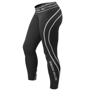 Better Bodies Athlete Tights - Black/Grey
