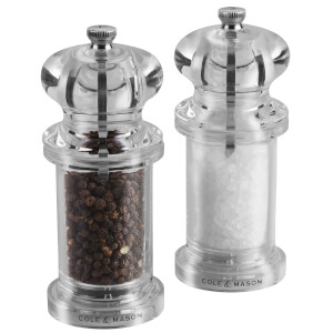 Cole & Mason Acrylic Salt and Pepper Mill Gift Set