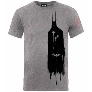 DC Comics Arkham Knight Batman Sketch Heren T-Shirt - Grijs